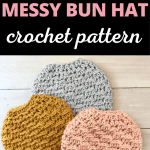 messy bun hat pinterest pin