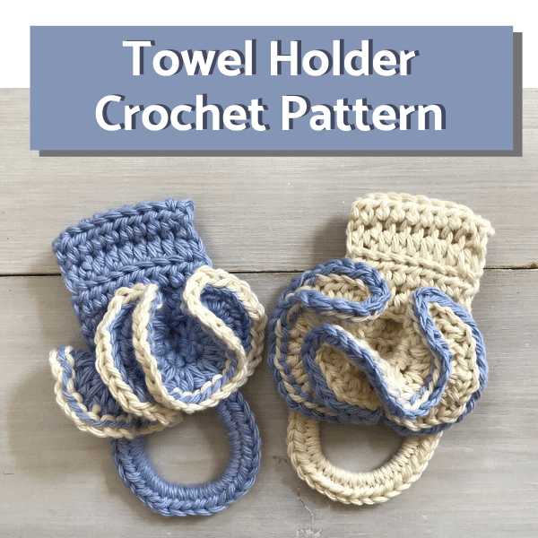 Easy Kitchen Towel Holder Free Crochet Pattern Simply Hooked By Janet