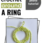 crochet around a ring pinterest image