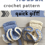 crochet towel holder pinterest image
