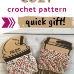 crochet cup and pint cozy