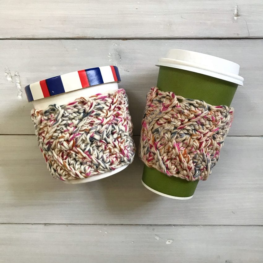 cup and pint cozy crochet pattern