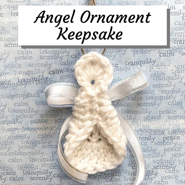 Crochet Angel pregnancy keepsake