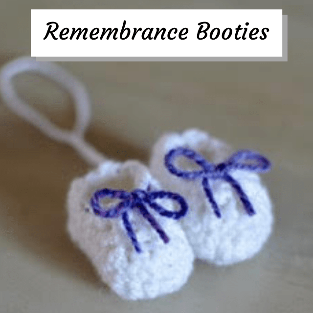 crochet remembrance booties