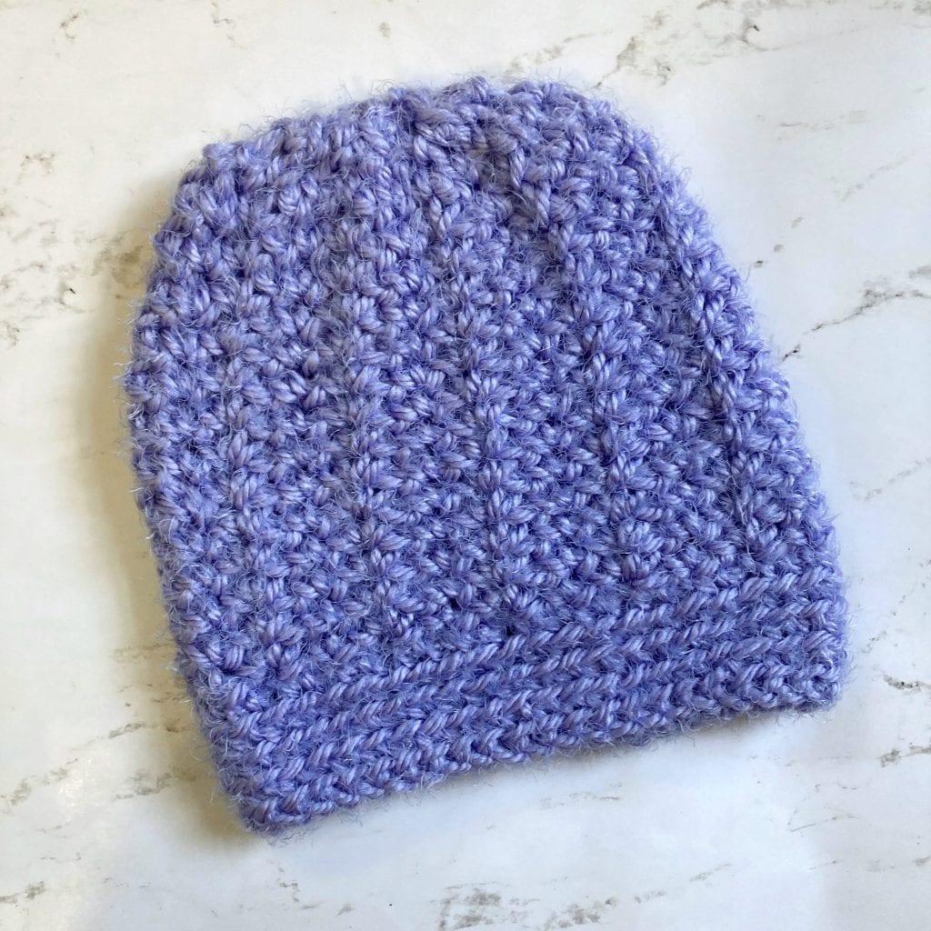 cascade beanie crochet hat