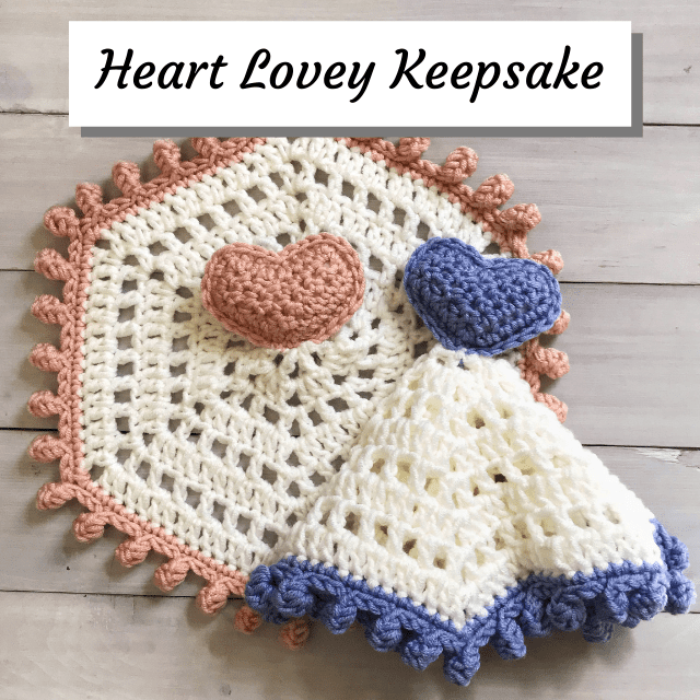 crochet heart lovey keepsake image