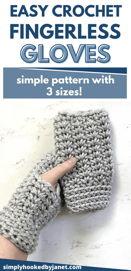 wintertime crochet gloves pinterest image