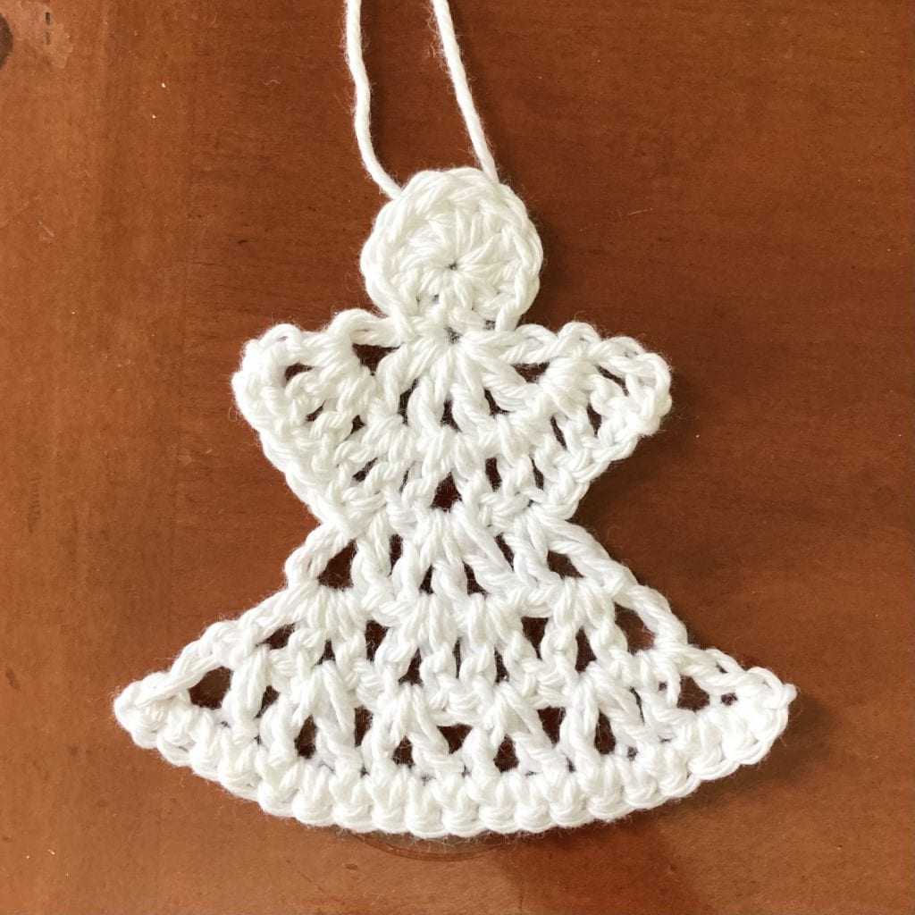 1 crochet angel ornament