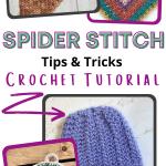 crochet spider stitch tips pin
