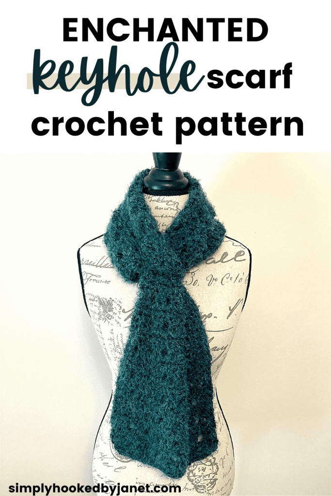 crochet keyhole scarf pin image