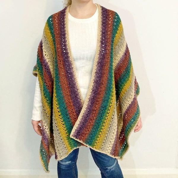 front of crochet ruana