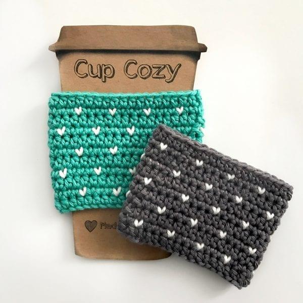 crochet valentine cup cozy