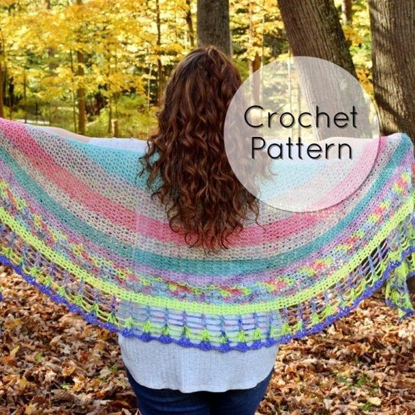 whimsical crochet shawl