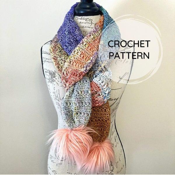 crochet advent scarf