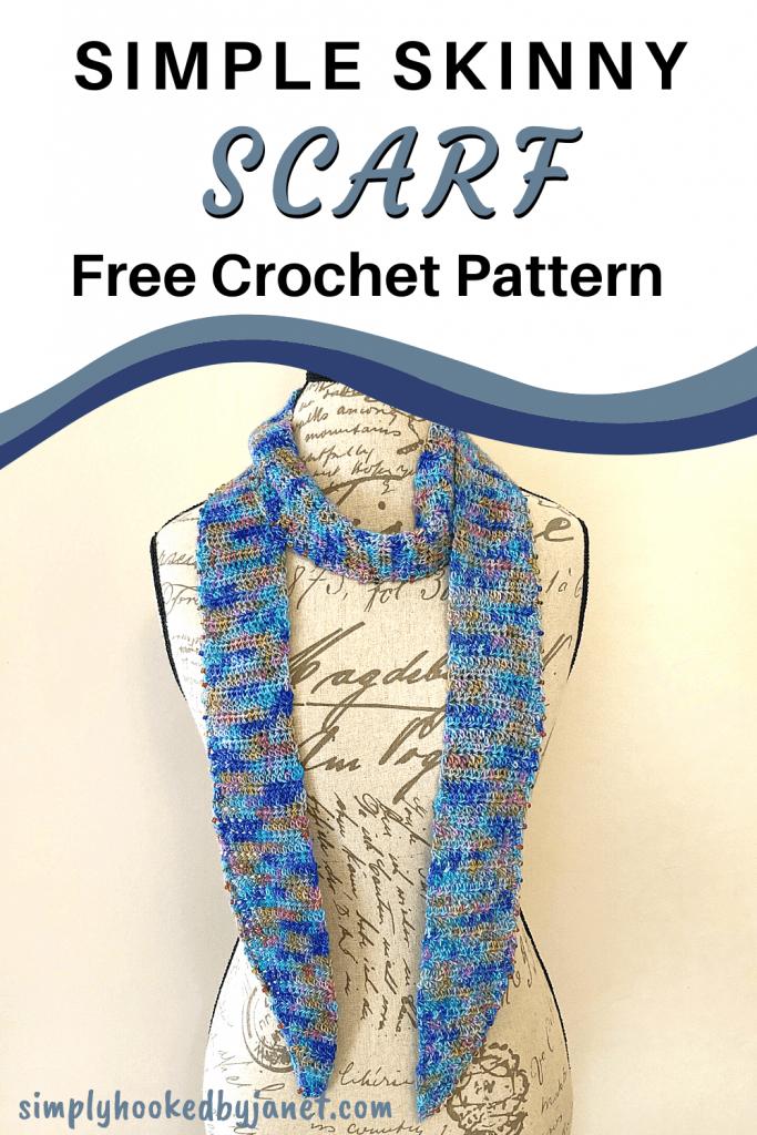 crochet scarf pattern pin image