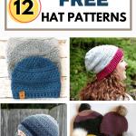 pin image worsted weight crochet hats