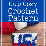crochet usa cup cozy pin
