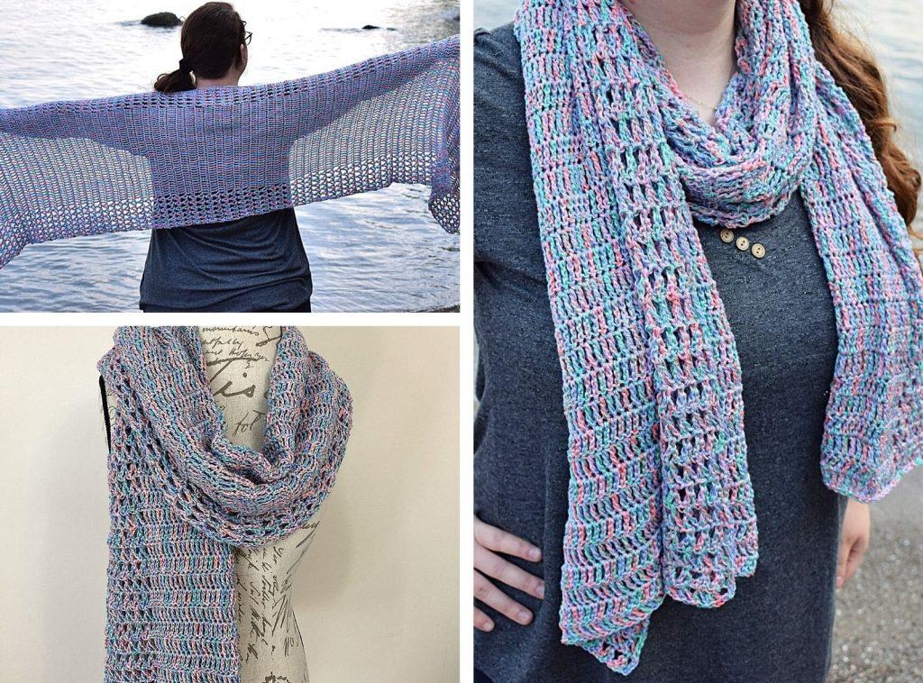 summer crochet rectangle wrap