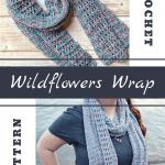 crochet wildflowers wrap pin