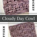crochet basketweave cowl pin