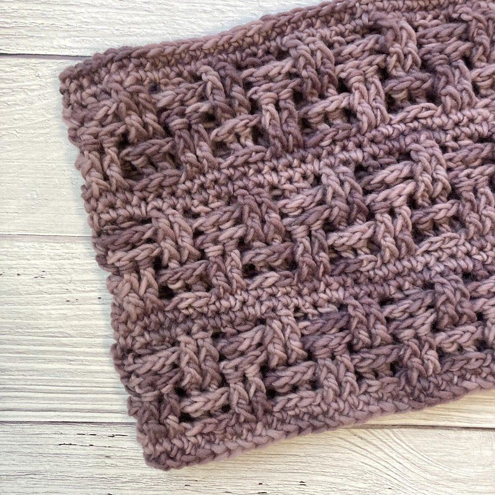 crochet neckwarmer pattern basketweave