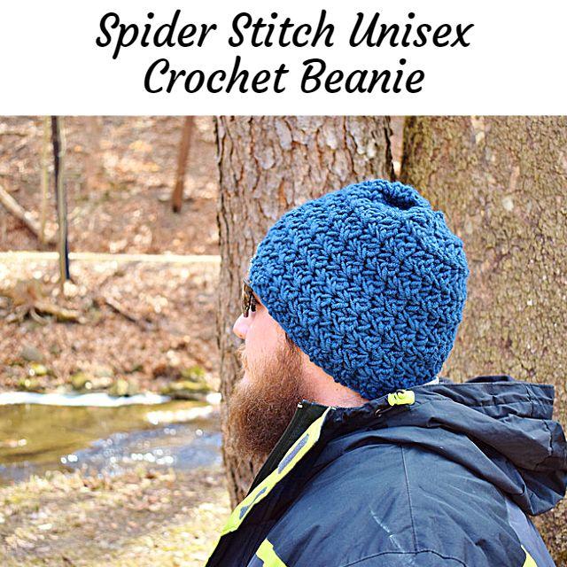 spider stitch crochet beanie