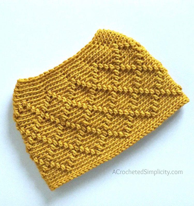 diamonds ponytail hat crochet