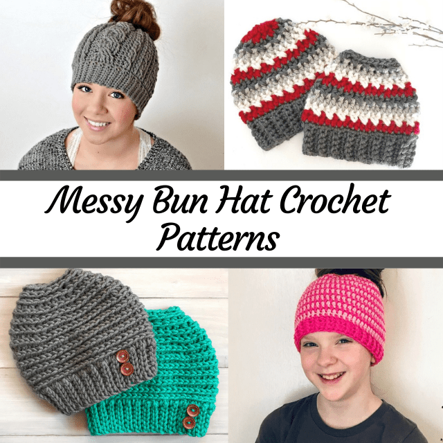 bun hat crochet patterns