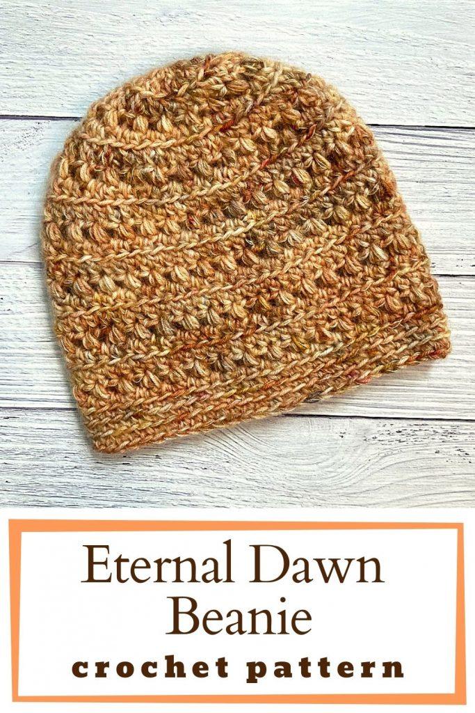 top down crochet beanie pin