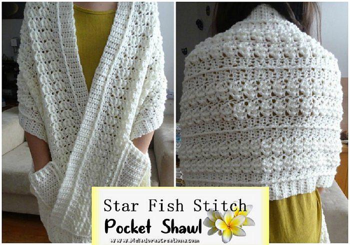 cozy textured pocket shawl
