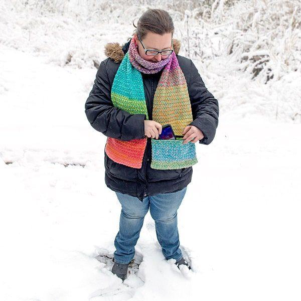 tweed pocket scarf